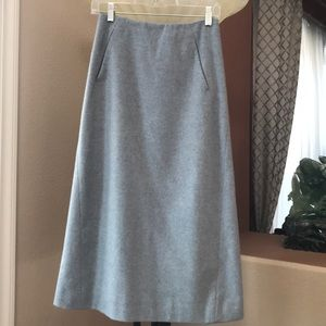 TSE 100% cashmere single face skirt